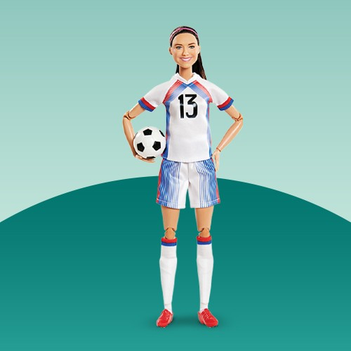 Barbie Signature Alex Morgan Shero Collector Doll, Barbie Chelsea Soccer Playset, Barbie Made To Move Soccer Player Doll, Barbie Olympic Games Tokyo 2020 Softball Doll, Barbie Signature Billie Jean King Inspiring Women Collector Doll