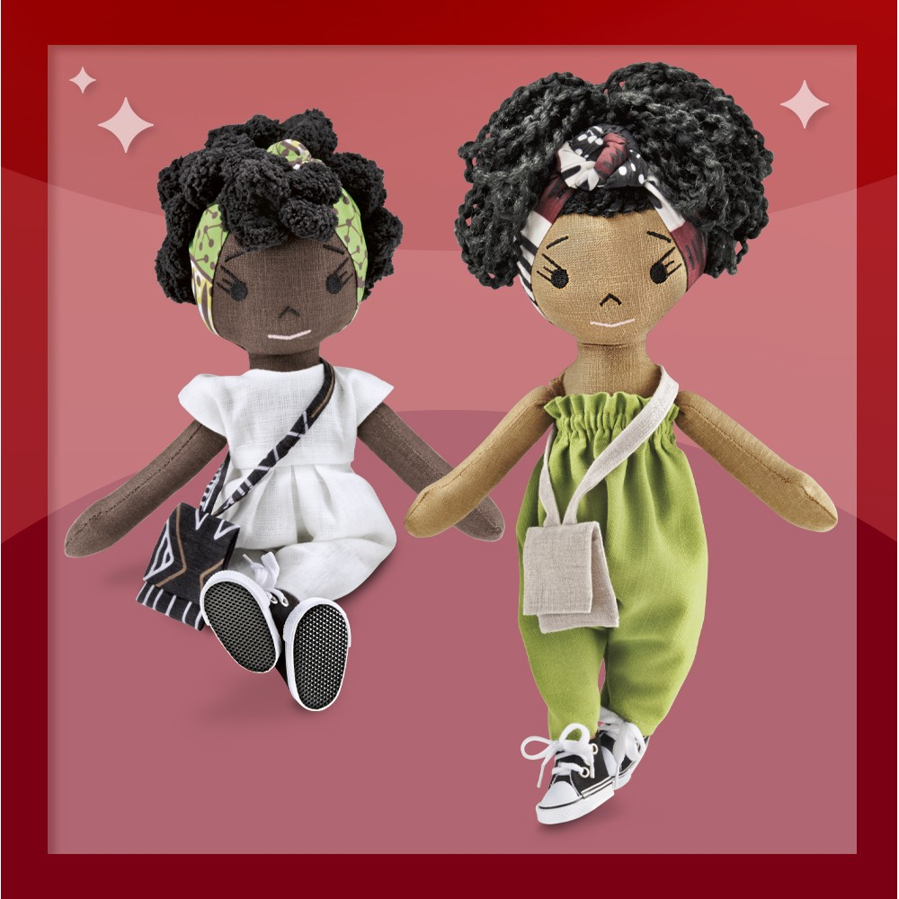 Harperlman Yumi 14'' Plush Linen Doll, Harperlman Rae 14'' Plush Linen Doll, Harperlman Quinn 14'' Plush Linen Doll, Harperlman Mia 14'' Plush Linen Doll