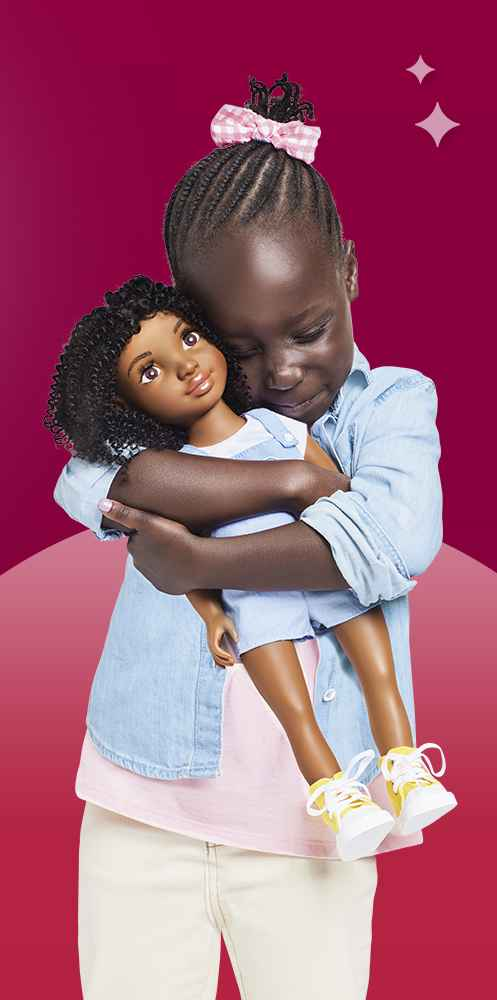 "Healthy Roots Doll - Zoe, Ikuzi Dolls Pink & Yellow Dress Doll with Black Hair 18"" Fashion Doll, Ikuzi Dolls Multi Colored Dress Doll with Black Hair 18"" Fashion Doll, Ikuzi Dolls Black Wavy Hair 18"" Fashion Doll"