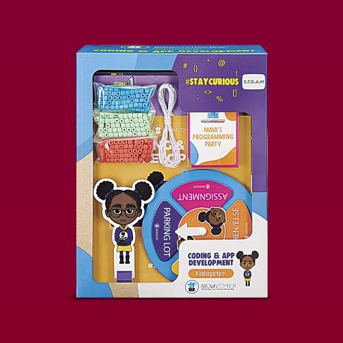 Brown Toy Box Maya Coding & App STEAM Kit, Brown Toy Box Dre Astronomy STEAM Kit, Brown Toy Box Justin Robotics STEAM Kit, Brown Toy Box Amara Chemistry STEAM Kit, Brown Toy Box Makayla Museum Arts STEAM Kit, Brown Toy Box Oscar Marine Biology STEAM Kit