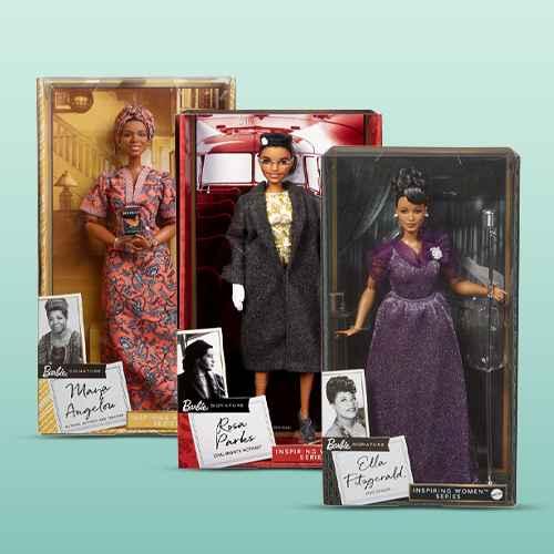 Barbie Signature Inspiring Women: Maya Angelou Collector Doll, Barbie Signature Inspiring Women Series Rosa Parks Collector Doll, Barbie Signature Ella Fitzgerald Inspiring Women Collector Doll