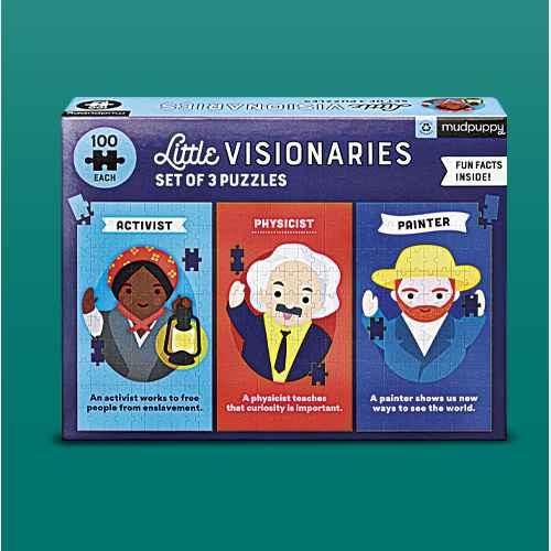 Mudpuppy Little Visionaries Kids' Puzzle Set - 3pk