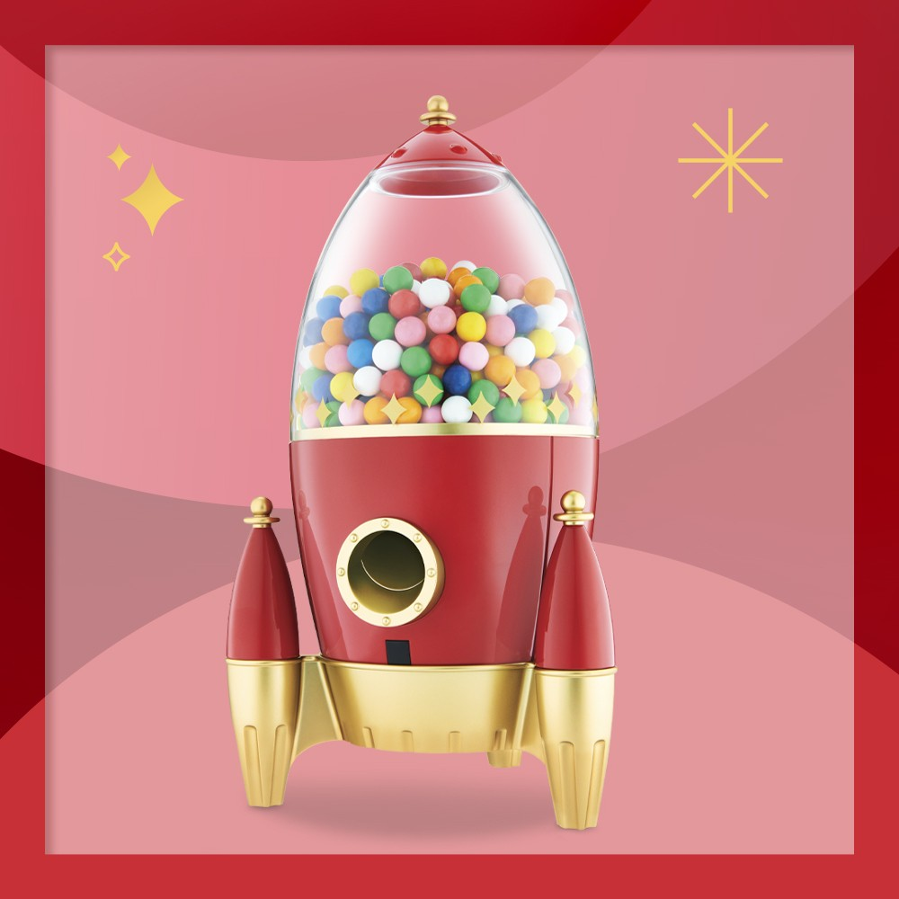 "FAO Schwarz Candy Rocket Dispenser, Great Northern Popcorn 11"" Gumball Machine - Red, Great Northern Popcorn Vintage Gumball Machine With Stand – Red/Black"