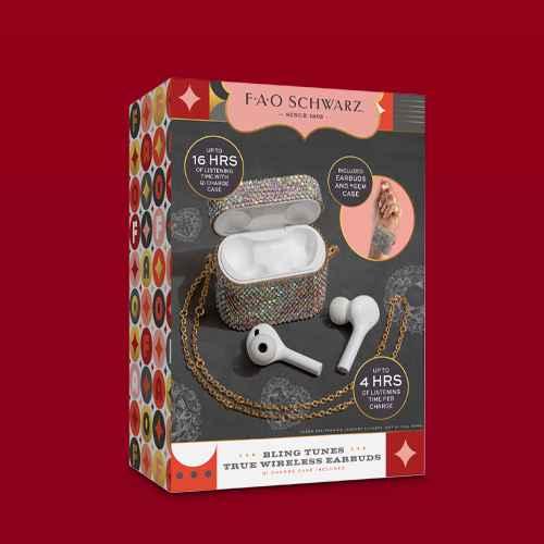 FAO Schwarz Wireless Ear Buds with Rhinestone Case