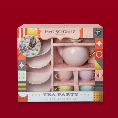 FAO Schwarz Ceramic Tea Party Set - 9pc