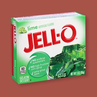 Jell-O Lime Gelatin - 3oz
