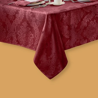 Barcelona Damask Stain Resistant Tablecloth - Elrene Home Fashions