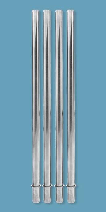 Aladdin Stainless Steel 4pk Reusable Straws