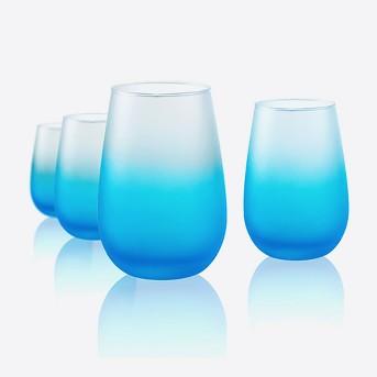 Artland 12oz 4pk Frost Shadow Stemless Wine Glasses