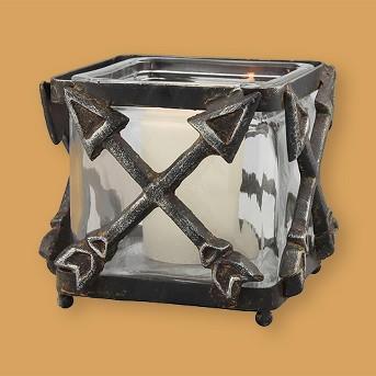Metal Arrow Votive Holder Gray Large - CKK Home Décor®