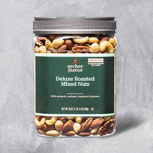 Unsalted Roasted Deluxe Nuts - 30oz - Archer Farms™