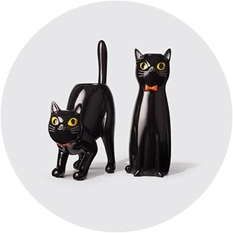 black cats bats - Bat Halloween Decorations