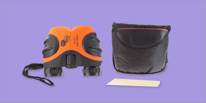 Hey! Play! Kids Binoculars 8 x 21mm With Case and Carrying Strap