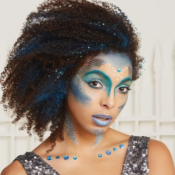 Mermaid Tattoo and Gem Halloween Costume Makeup - Hyde & EEK! Boutique™