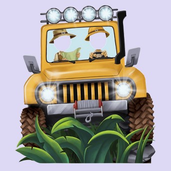 Jungle Jeep Party Standee