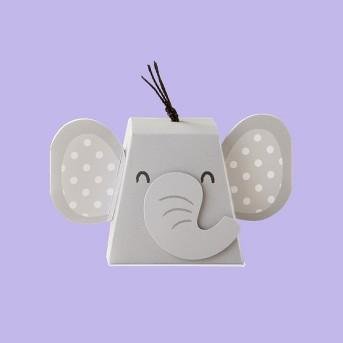 12ct Elephant Favor Box