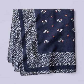 Women's Floral Print Bandana - Universal Thread™ Blue One Size