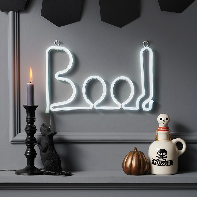 Halloween LED Neon Rope Boo Flicker White - Hyde and Eek! Boutique™