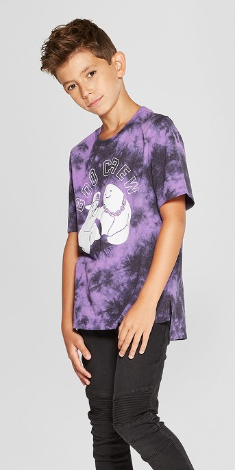 Boys' Boo Crew Short Sleeve Halloween T- Shirt - art class™ Purple