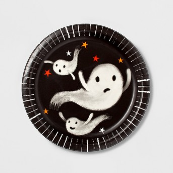 Paper Plates Halloween Skull Ghost 10ct - Hyde and Eek! Boutique™