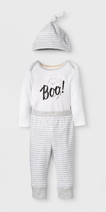 Baby's Boo 3pc Set - Cloud Island™ White