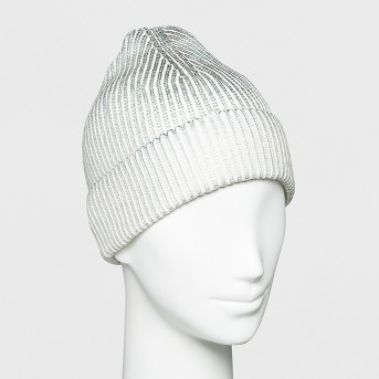 Women's Foil Printed Beanie - Wild Fable™ Cream