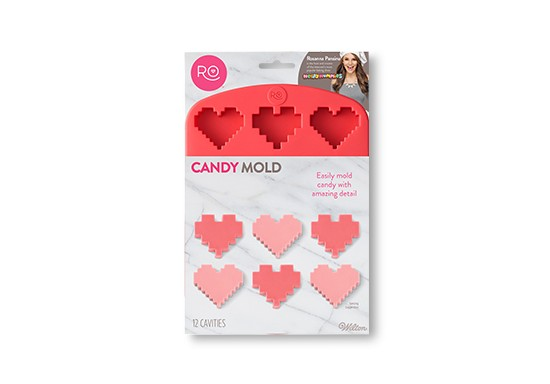 Rosanna Pansino by Wilton Heart Candy Molds 6.3