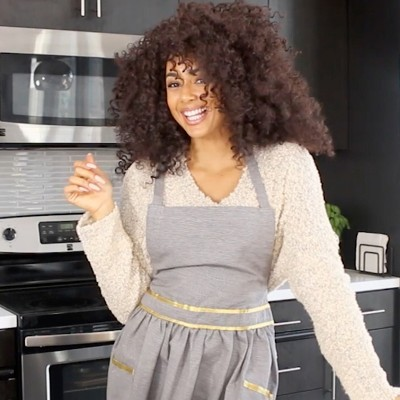 Gray Cooking Apron
