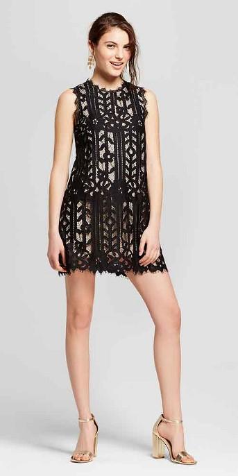 Women's Lace Shift Dress - Lots of Love by Speechless (Juniors') Black