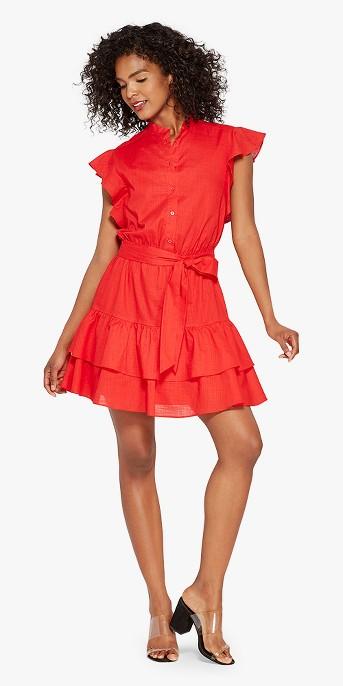Women's Ruffle Mini Shirt Dress - Who What Wear™