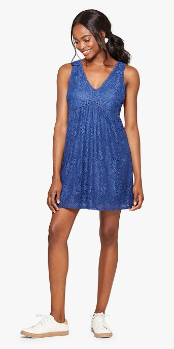 Women's Lace-Up Back Dress - Lots of Love by Speechless (Juniors') Blue