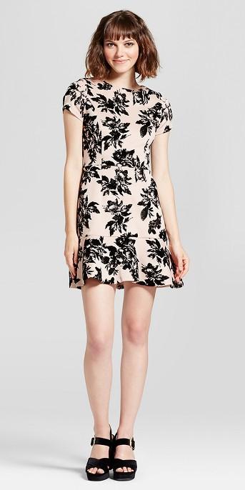 Women's Embossed Velvet Dress - Necessary Objects