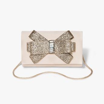 Women's Glitter Bow Clutch Handbag - Estee & Lilly