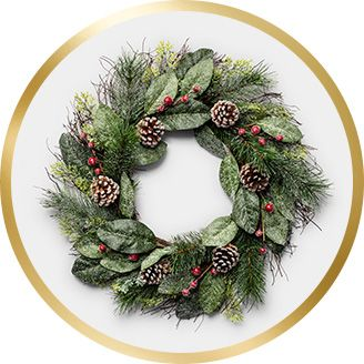 wreaths garlands wondershop indoor christmas decorations - Outdoor Tinsel Christmas Decorations
