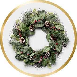 christmas wreaths garlands