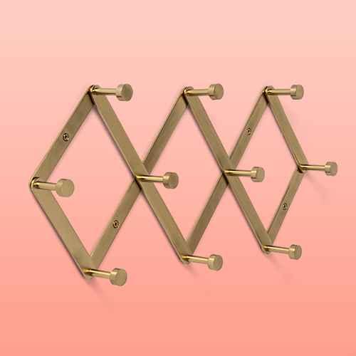 Accordion Decorative Hook Rack Brass - Project 62™