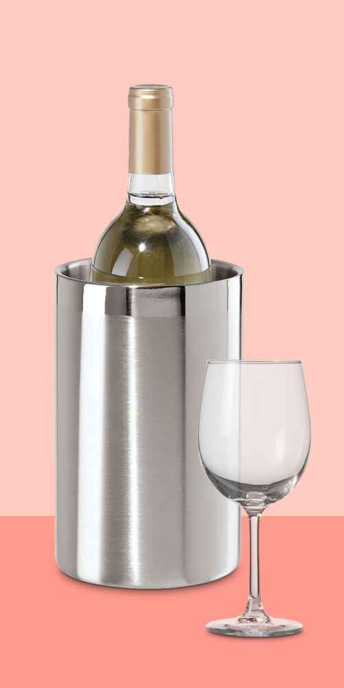 Stainless Steel Double Wall Wine Cooler - Oggi, 12oz Wine Glass - Made By Design™
