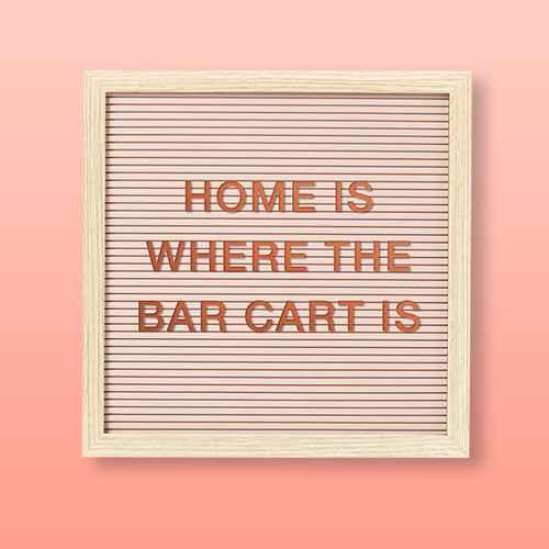 "12""x 12"" Letter Board Blush Peach - Room Essentials™"