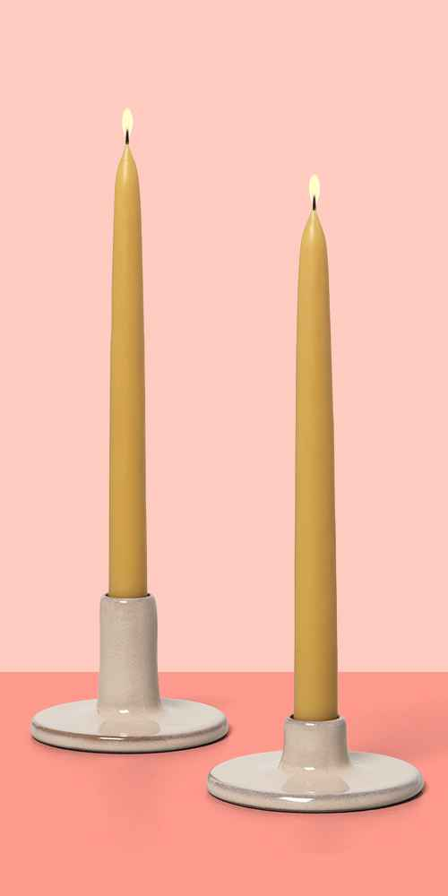 """10"""" Beeswax Blend Taper Candles Set of 2 - Hearth & Hand™ with Magnolia"""