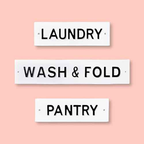 'Laundry' Wall Sign White/Black - Hearth & Hand™ with Magnolia, 'Wash & Fold' Wall Sign White/Black - Hearth & Hand™ with Magnolia, 'Pantry' Wall Sign White/Black - Hearth & Hand™ with Magnolia