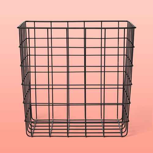 Decorative Baskets Steel Square Black - Room Essentials™