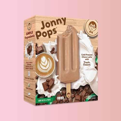 JonnyPops Cold Press Coffee Chocolate & Cream Frozen Bars - 4pk/8.25oz, JonnyPops Dark Chocolate & Cream Frozen Bars - 4pk/8.25oz, JonnyPops Chocolate-Dipped Vanilla with Fresh Cream Frozen Pops  - 4ct