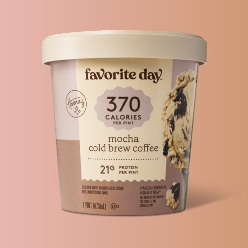 Reduced Fat Mocha Cold Brew Coffee Ice Cream - 16oz - Favorite Day™, Reduced Fat Chocolate with Peanut Butter Swirl Ice Cream - 16oz - Favorite Day™, Reduced Fat Chocolate Pecan Pie Ice Cream -16oz - Favorite Day™