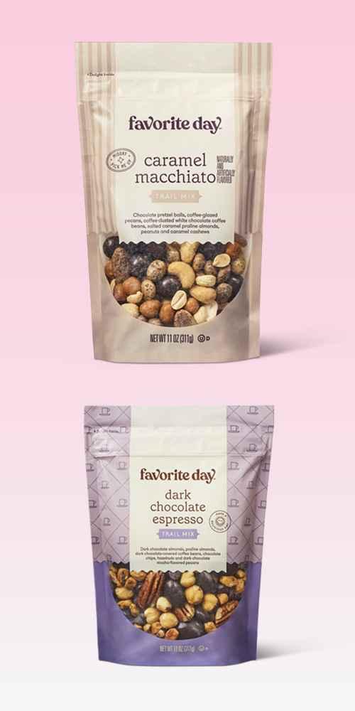 Caramel Macchiato Trail Mix - 11oz - Favorite Day™, Dark Chocolate Espresso Trail Mix - 11oz - Favorite Day™