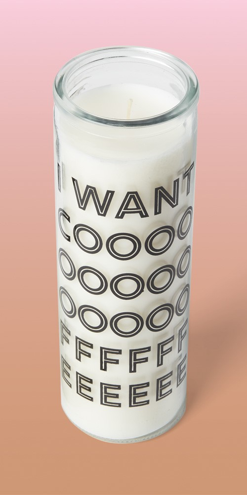 """10oz Glass ''I Want Coffee"""" Morning Java Candle - Room Essentials™"""