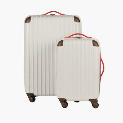 "Love Taza 20"" Hardside Spinner Suitcase - Cream"