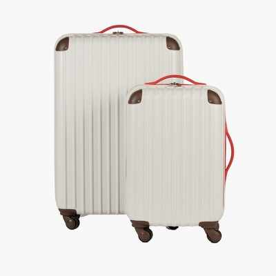 "Love Taza 20"" Hardside Spinner Suitcase - Cream"