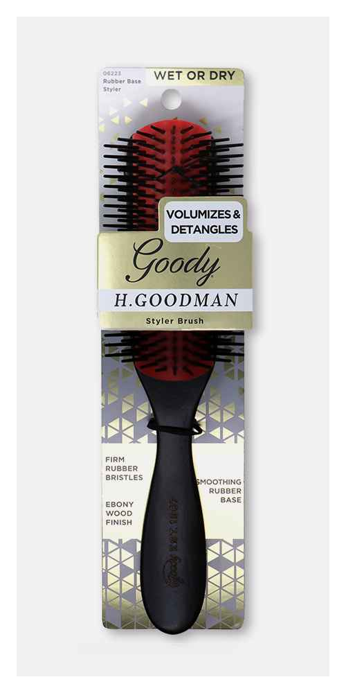 Goody Heritage Collection Rubber Base Hair Brush Styler - 1ct