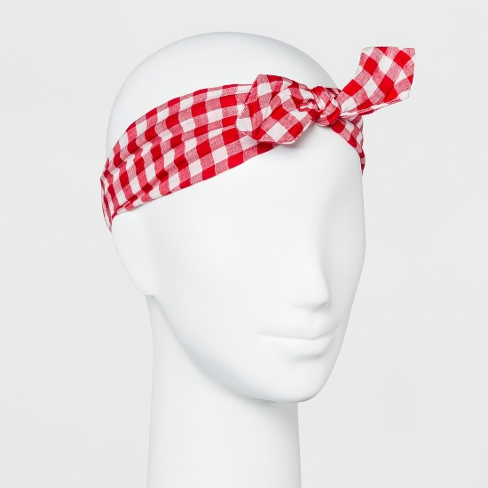 Women's Gingham Headband with Bow - Mossimo Supply Co.™ Red/White