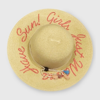 Junk Food Women's Mickey Mouse Embroidered Straw Hat - Natural